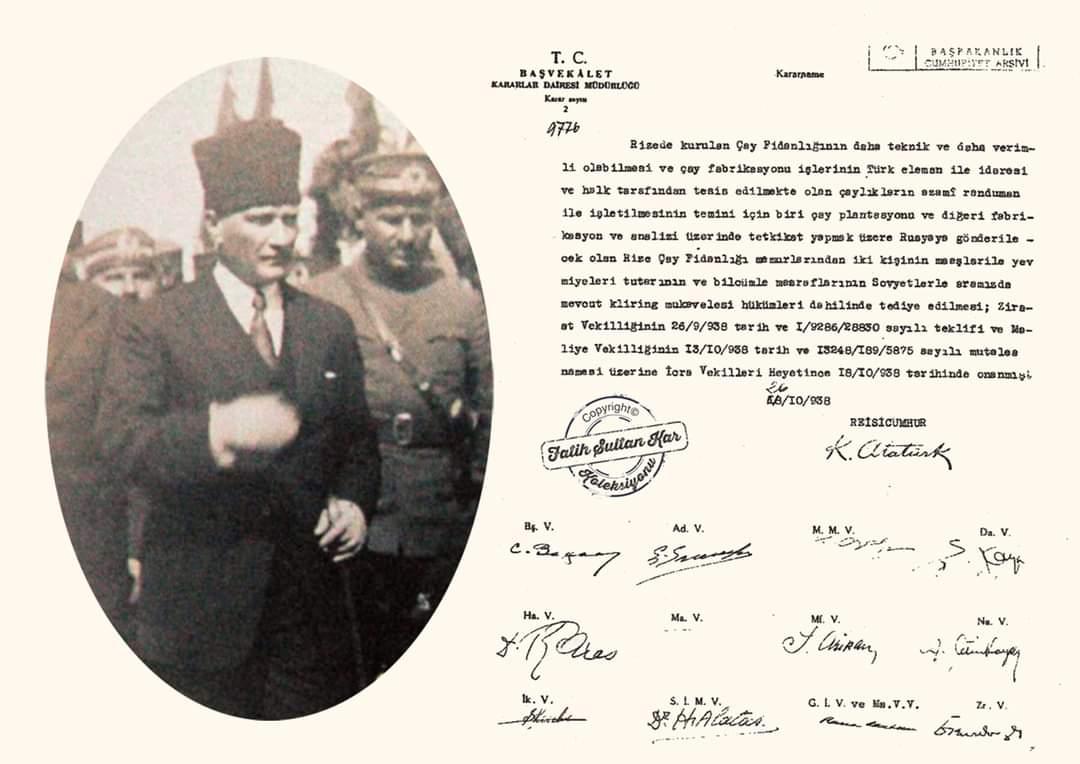 Atatürk Çay için imzayı atmıştı