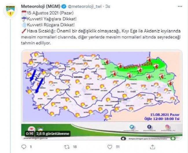 METEOROLOJİ Genel Müdürlüğü uyardı!